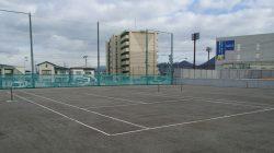 山形五中テニスコート整備